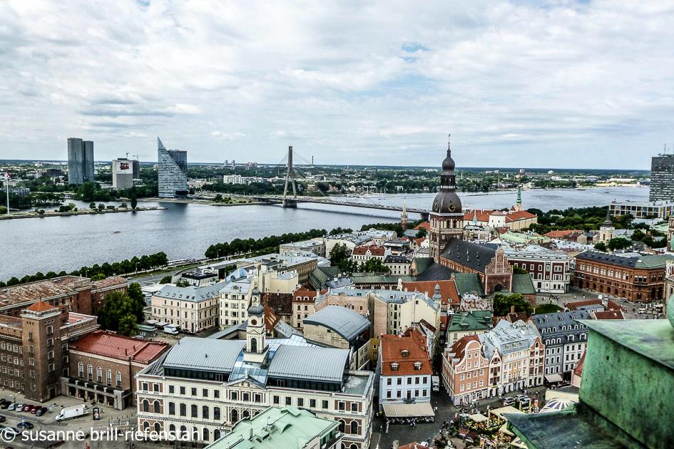 Riga / Blick über die Duna