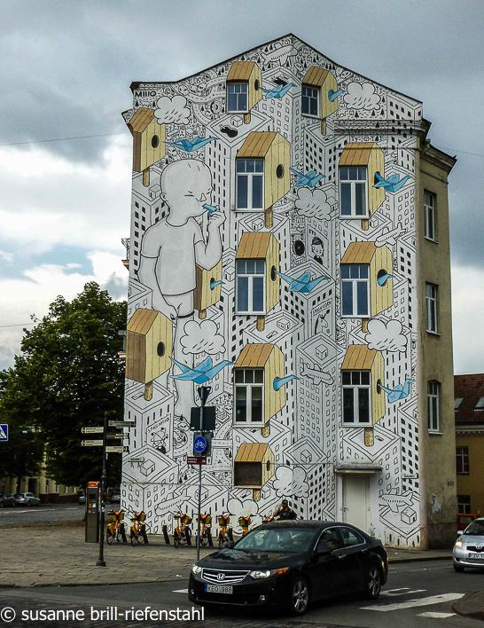 Vilnius (Wilna) /  bemaltes Haus