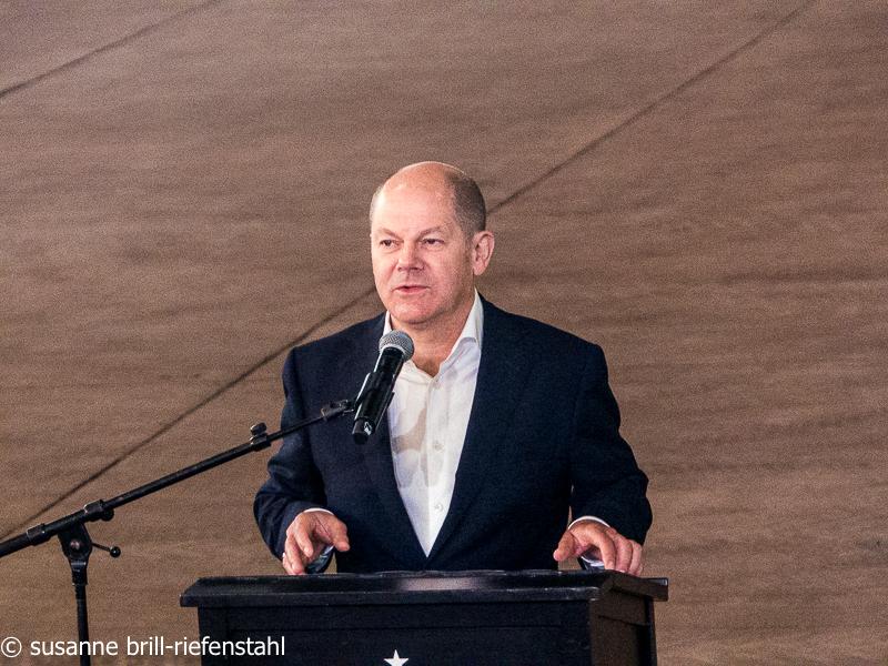 Olav Scholz bei der Eröffnungsansprache